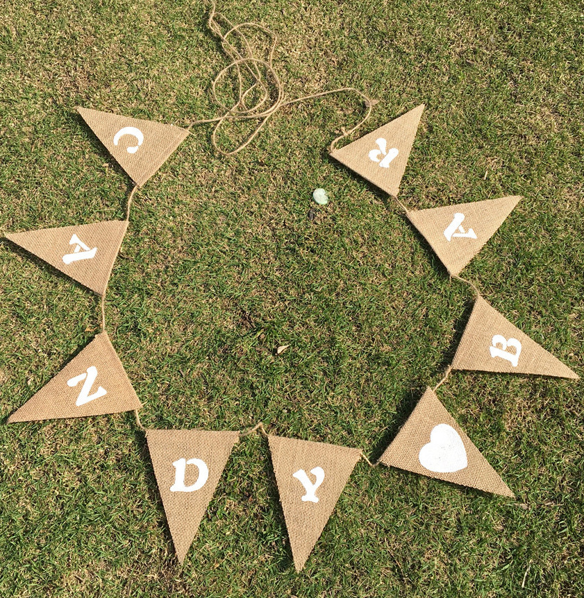 Us 3 34 25 Off Candy Bar Diy Letters Banners Heart Creative Decorations Pennant For Wedding Engagement Linen Carnival Party Favors Supplies E In