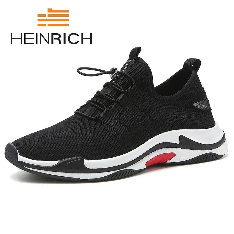 Генрих рекомендуем человек повседневная обувь 2018 г. Удобная дышащая прогулочная обувь большой Размеры сетки легкие тапки обувь Zapatos