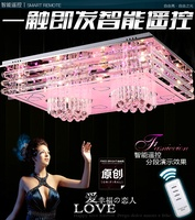 LED 30W K9 Crystal Creative Contemporary And Contracted Crystalline Light Rectangle Bedroom Lamp Led To