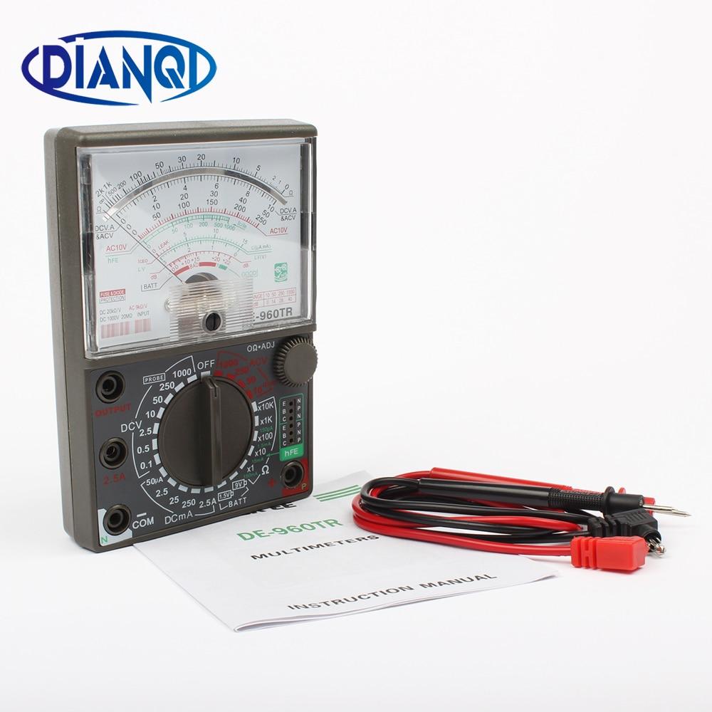 Multímetro analógico de-960tr AC DC Volt Ohm prueba de corriente multímetro eléctrico de-960tr metros