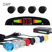 2'' Auto Reversing Radar Crescent Moontooth 4 Probe Car LED Screen Blind Spot Detection System Parktronic Sensors Detection Z04