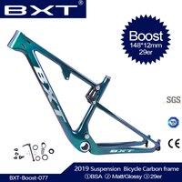 BXT новая ударная полная Треугольная рама подвески горного велосипеда рама 29er 148*12 мм boost задний интервал 142*12 мм Дорожный 100 мм рама для горног