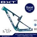 BXT nuevo choque SUSPENSIÓN COMPLETA montura de bicicleta de montaña 29er 148*12mm realce espaciado trasero 142*12mm marco de bicicleta de montaña de viaje de 100mm