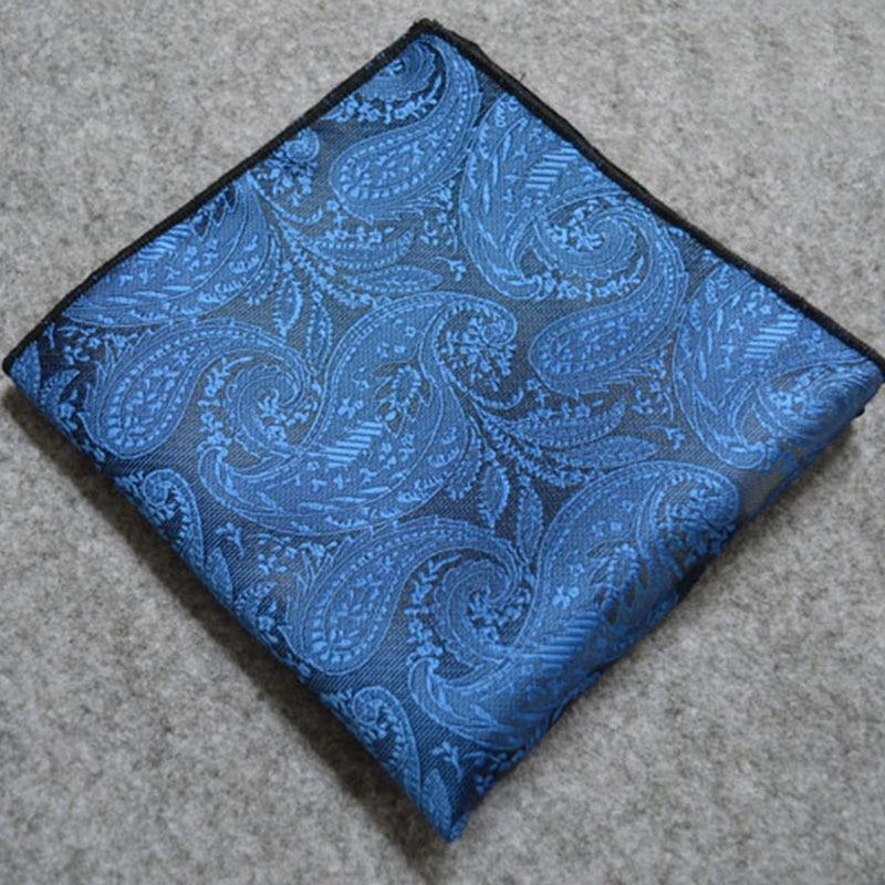 Mantieqingway Chest Towel Pocket Square Towel Paisley Men Handkerchief Business Suit Pocket Hanky Woven Floral Printing Hanky