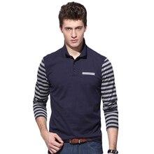 Brand New Men's Long Sleeve Striped Polo Shirt Men Casual Design Spring Autumn Cotton Breathable 2017 Polos