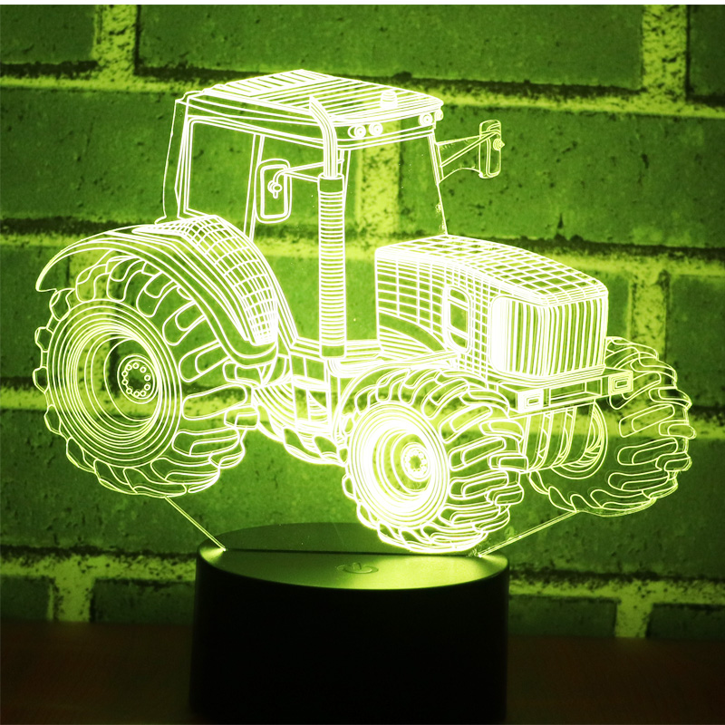 3D LED Night Light Dynamic Tractor Car with 7 Colors Light for Home Decoration Lamp Amazing Visualization Optical Illusion3D LED Night Light Dynamic Tractor Car with 7 Colors Light for Home Decoration Lamp Amazing Visualization Optical Illusion