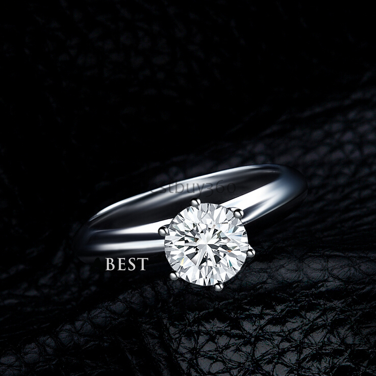 3 carat 925 sterling silver ring classic solitaire wedding ring US size from 4 to 10