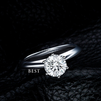 3 carat 925 sterling silver ring classic solitaire wedding ring US size from 4 to 10.5 (NM)
