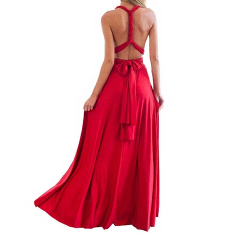 310e925ee27f9 Dress Women 2019 Long Summer Convertible Bohemian Dresses Casual Bandage  Evening Prom Club Party Infinity Multiway Maxi Dresses