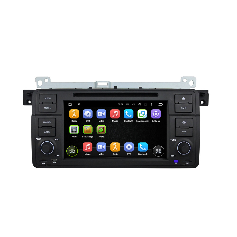 """KLYDE 7"""" 1 Din 8 Core Android 8.0 For BMW E46 M3 1998 2004"""