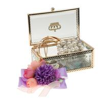 Vintage Clear Glass Jewelry Display Box Earrings Necklaces Bracelets Show Trinket Case Rectangle Storage Holder Container