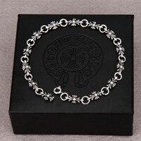 Men Women Fashion Cross Bracelets Couple Silver Plated Bracelet