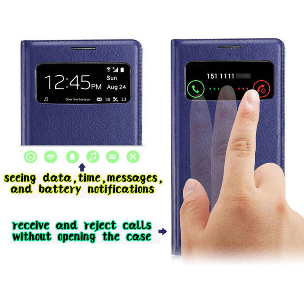 Thông minh Gập Bao Da Ốp Lưng Điện thoại Samsung Galaxy S4 GalaxyS4 S 4 GT 9500 I9500 I9505 I9506 GT-I9500 GT-I9505 Sansung