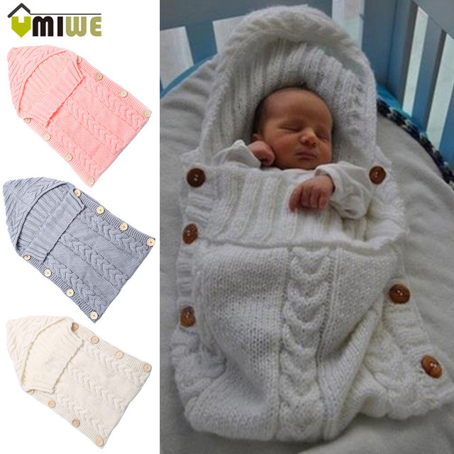 Newborn Toddler Blanket Handmade Infant Babies Sleeping Bag Knit ...