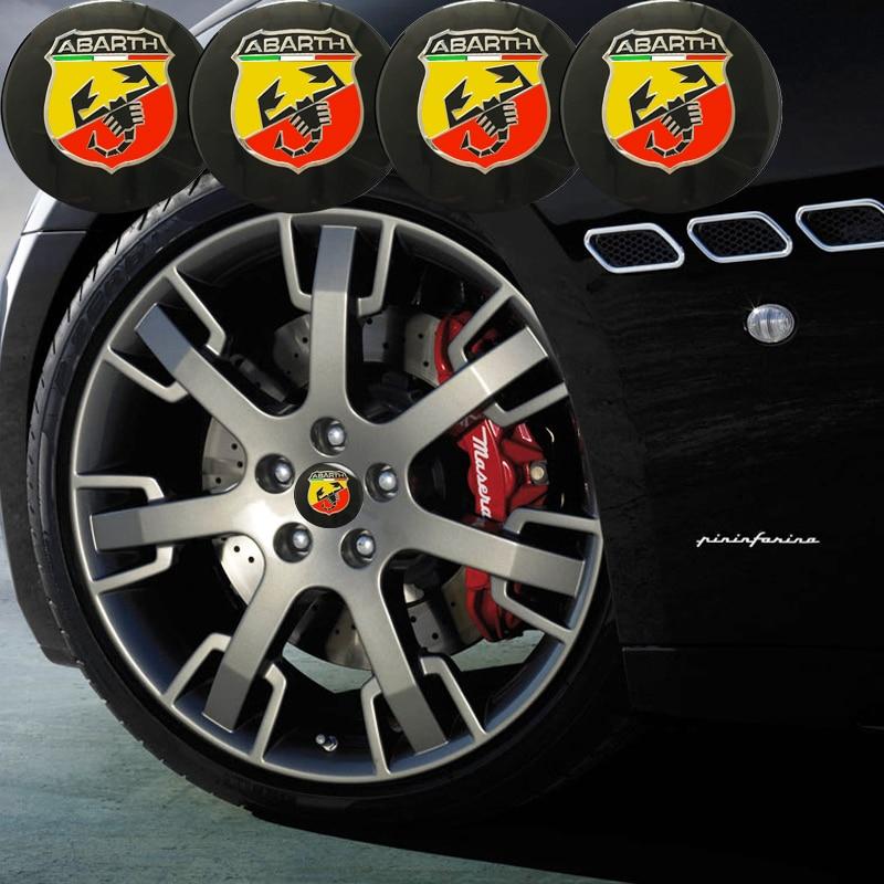 ANTINIYA 4pcs/56mm For Abarth Emblem badge Wheel Center Hub Cap Cover Sticker for fiat punto abarth 500 stilo ducato Car Styling emblem
