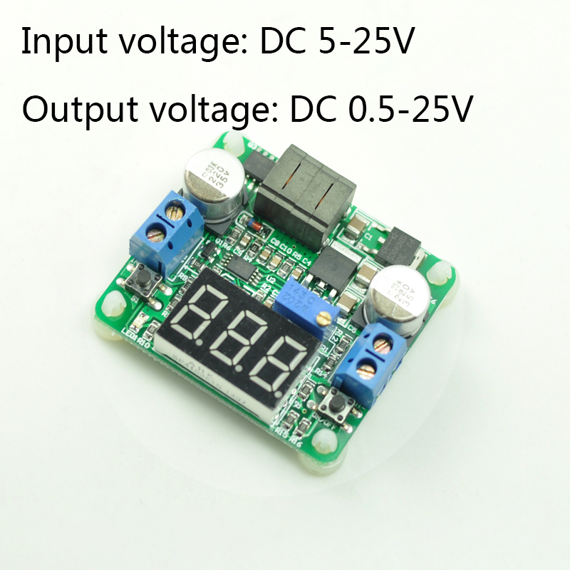 DC-DC automatic step-up step-down module, step-up step-down circuit, adjustable power supply module, 12v voltage regulator modul 4 1 wide voltage input dc dc converter48v to 12v 1 66a dc dc step down power module supply free shipping