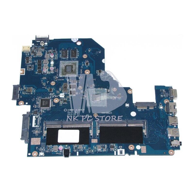 NOKOTION NBMQX11005 NB. MQX11.005 Pour Acer aspire E5-511 E5-511G Mère D'ordinateur Portable A5WAM LA-B981P 820 M 2 GB DDR3L