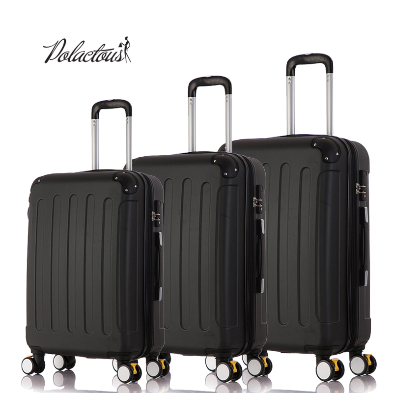 202428 3Piece Classic striped patch Trolley suitcase/rolling spinner wheels Pull Rod luggage/Girl traveller case boarding bag