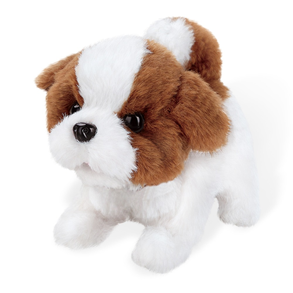 Robot Dog Electronic Pets Puppy Barking Stand Walking Interactive Dog Plush Cute Teddy Toys Kids Gifts Toy For Children
