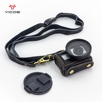 Go Pro 5 Session Holster Leather Protective Case Cover With Set Key Sling High Quality Bag