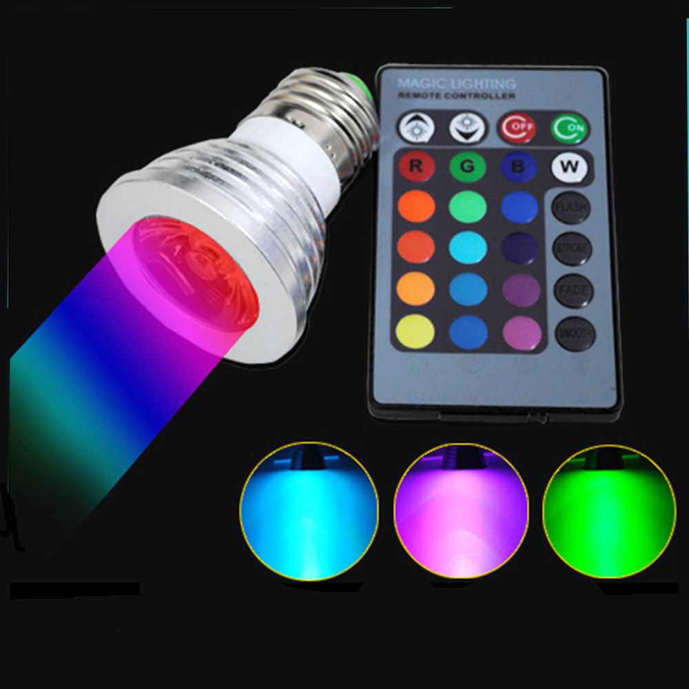 2016 new e27 rgb ampoule led bulb with remote controller. Black Bedroom Furniture Sets. Home Design Ideas