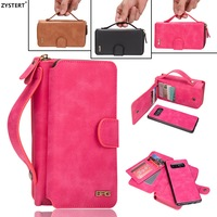 For Samsung Note 8 PU Leather Women Shockproof Zipper Wallet Magnetic Bag Case For Samsung Galaxy