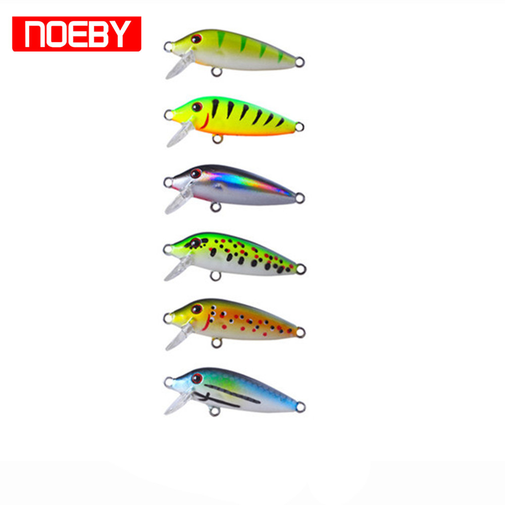 2017 NOEBY Fishing Lures Minnow 40mm/2.4g Sinking 0.2-0.8m Leurre Dur Peche Hard Baits Souple Shad With France VMC Hook noeby nbl9062 fishing lures 66g 140mm pencil sinking leurre peche mer brochet hard fishing bait