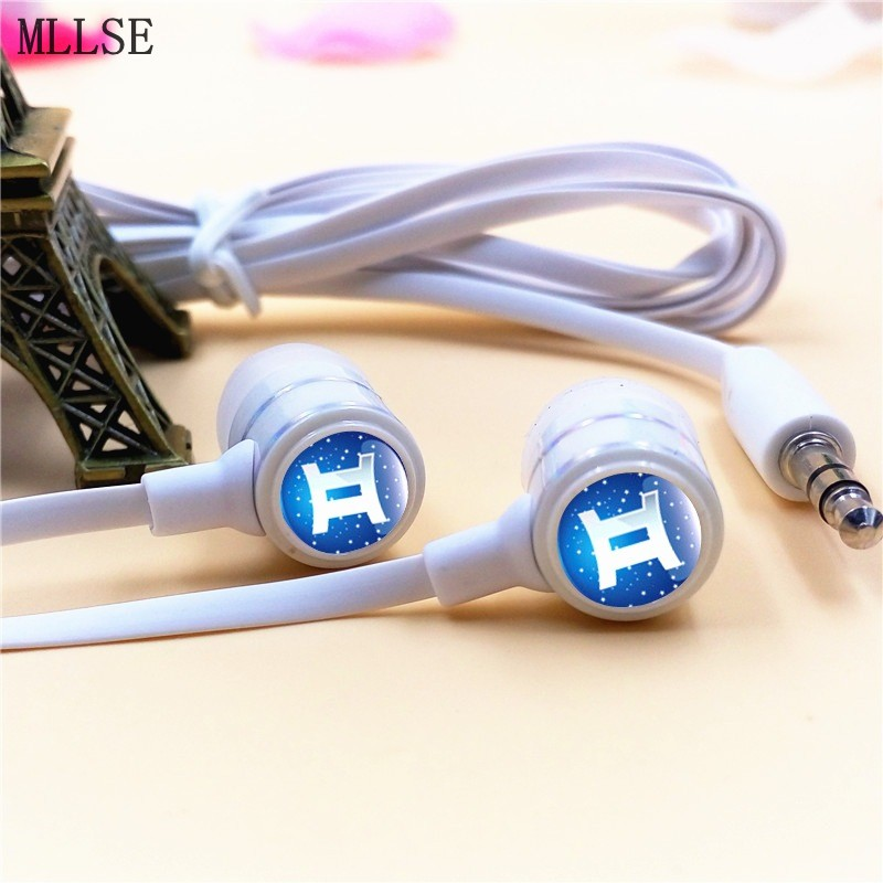 MLLSE Anime Fairy Tail Zodiac Gemini In-ear Earphones 3.5mm Stereo Earbuds Phone Music Game Headset for Iphone Samsung VIVO MP3