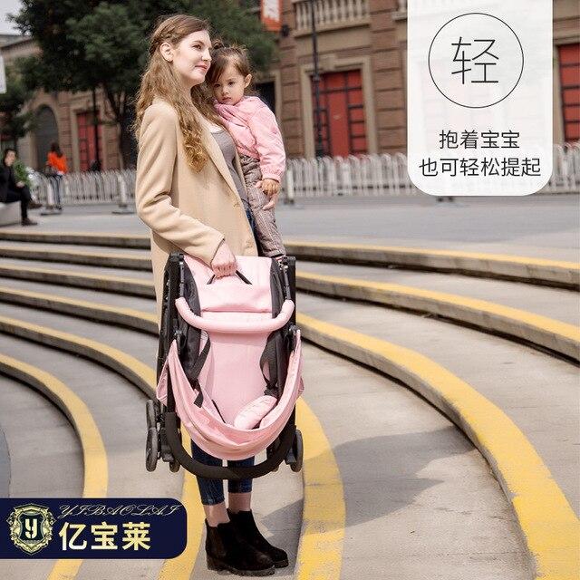 Tweeling kinderwagen 4.9KG Kan Worden Split baby Kan Zitten en Liggen Ultra-lichtgewicht opvouwbare Dubbele Baby vervoer draagbare auto 1