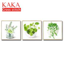 Cross stitch kits,Embroidery needlework sets,DMC 11CT canvas with printed pattern for Home Decor Painting,flowers CKF0065