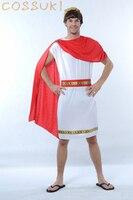 משלוח חינם! הכי חדש! warrior רומא העתיקה cosplay תלבושות גברים מבוגרים ליל כל הקדושים מגניבים לביצועי במה או מסיבת תחפושות