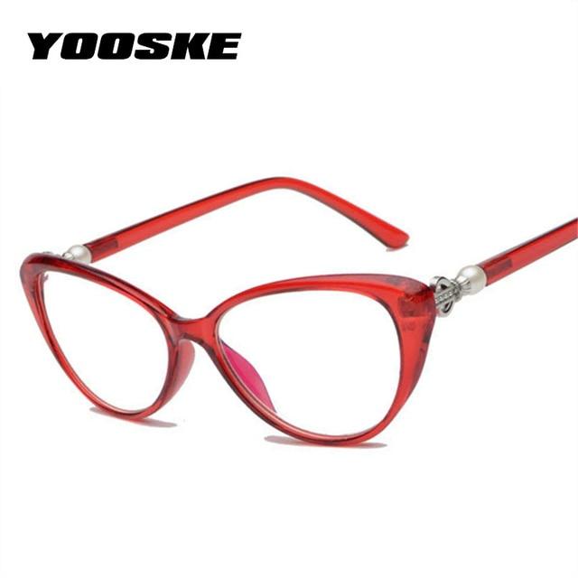 4019e17c89 YOOSKE Women Cat Eye Reading Glasses Fashion Elegant Hyperopia Prescription  Glasses Ultra Light Blue Film Resin Reading Glasses