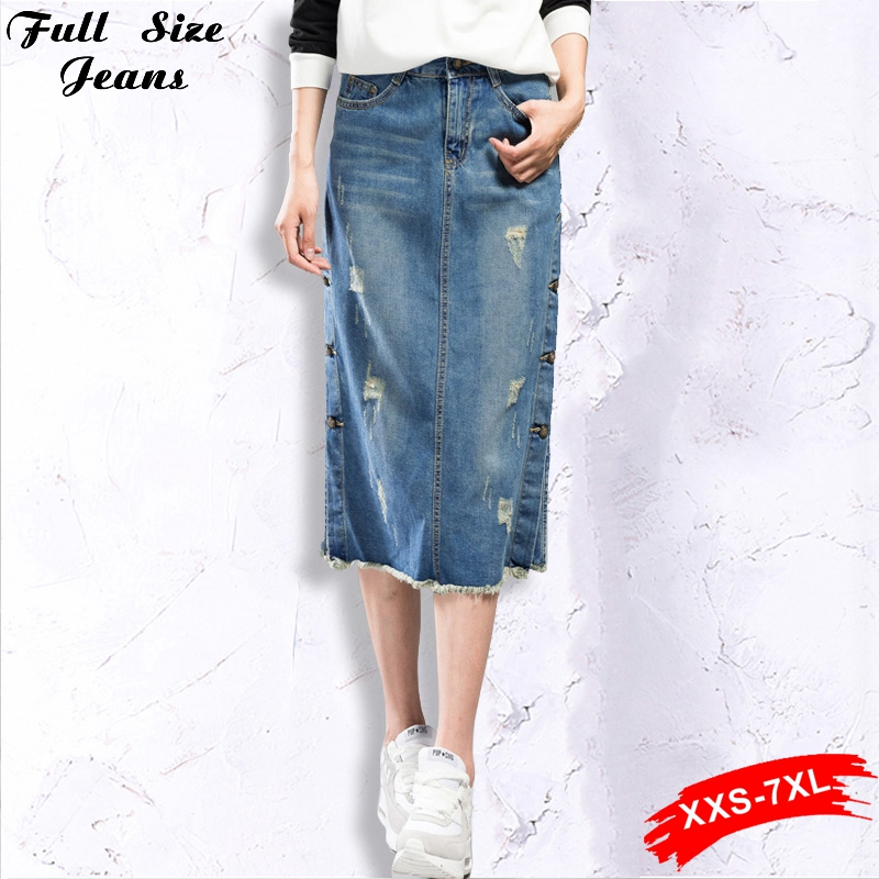 Online Get Cheap Long Denim Skirt Size 16 -Aliexpress.com ...