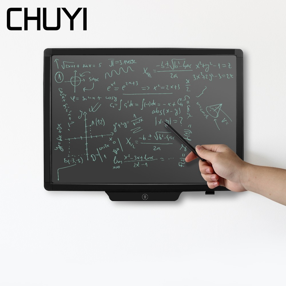 CHUYI 20 inch LCD Writing Tablet Electronic Drawing Board Handwriting Pad With Stylus Pen Digital Graphic Touch Pad For Kids Art 8 5 inch frog handwriting tablet board lcd writing tablet graphic drawing board for kids xxm8