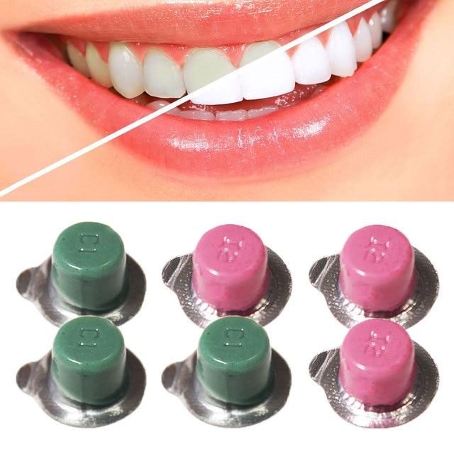 6 piezas Dental pulidor de dientes pasta blanqueador de dientes pulidor blanqueador blanco sonrisa