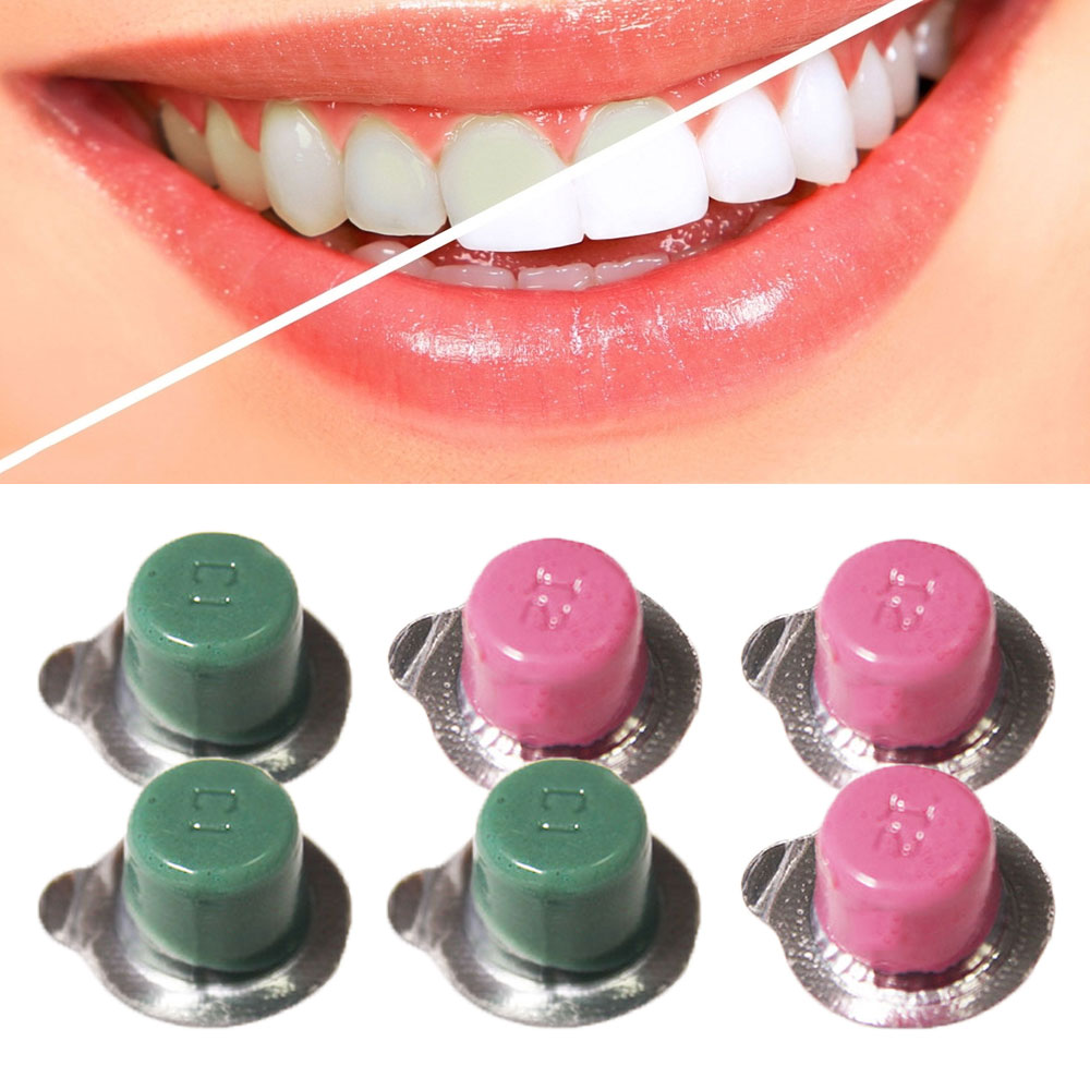 6PCS GENKENT Dental Teeth Whitening Burnisher Polisher Whitener Flavors White Smile Tooth Polishing Paste