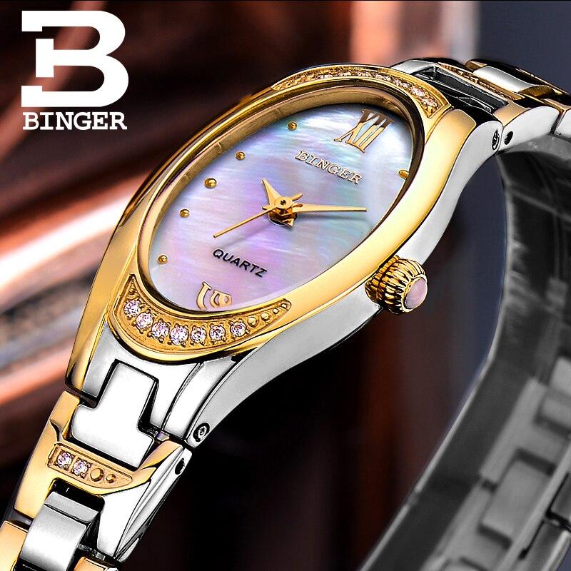 BINGER Watches Women 2017 Fashion Slim Quartz Diamond Watch Elegant Dress Watch Relogio Feminino Clock Montre Femme B 3022L-in Women's Watches from Watches    1