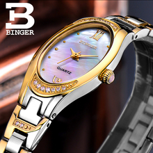 BINGER Watches Women 2017 Fashion Slim Quartz Diamond Watch