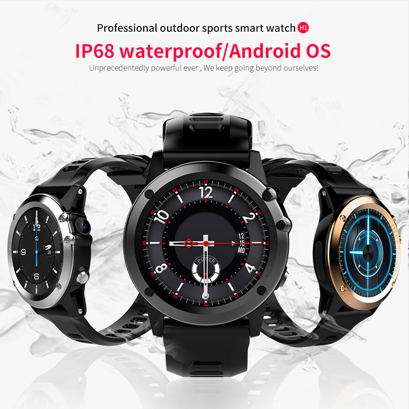 """Image 2 - H1 Smart Watch Android 4.4 Waterproof 1.39"""" MTK6572 BT 4.0 3G Wifi GPS SIM For iPhone Smartwatch Men Wearable Devices-in Smart Watches from Consumer Electronics"""