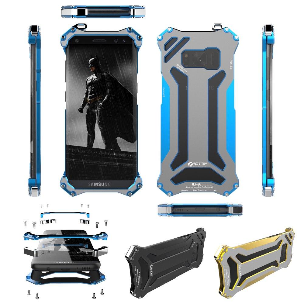 imágenes para R-just gundam al aire libre cubierta de marco de aluminio a prueba de golpes de metal heavy duty tough case armor shield para samsung galaxy s8 s8 + plus