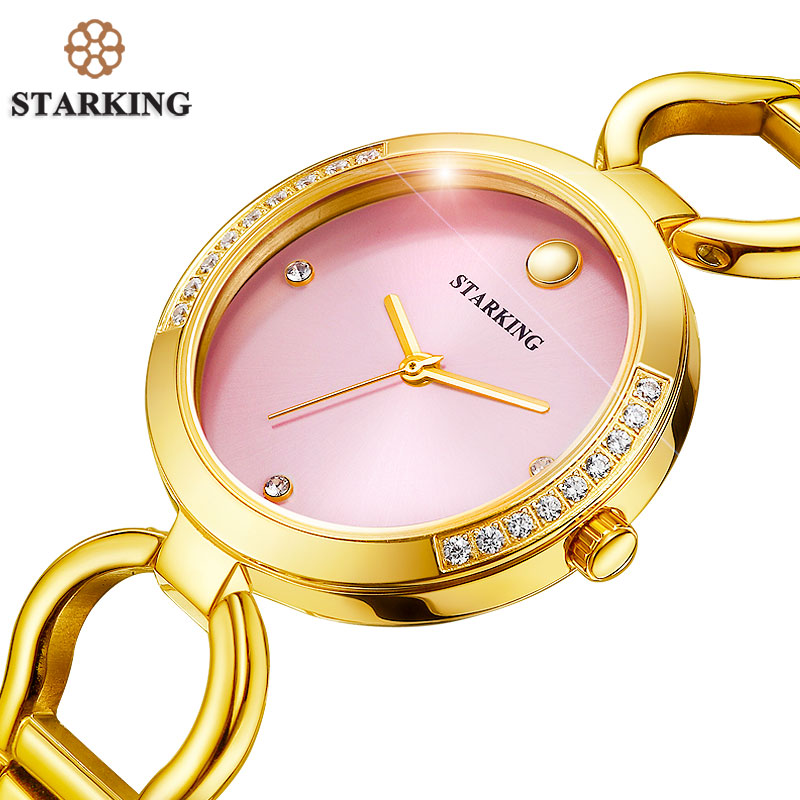 STARKING New Luxury Women Watch Famous Brand Gold Fashion Design Bracelet Watch Ladies Women Wrist Watches Damske Hodinky BL0984 new luxury women watch famous brand silver fashion design bracelet watches ladies women wrist watches relogio femininos