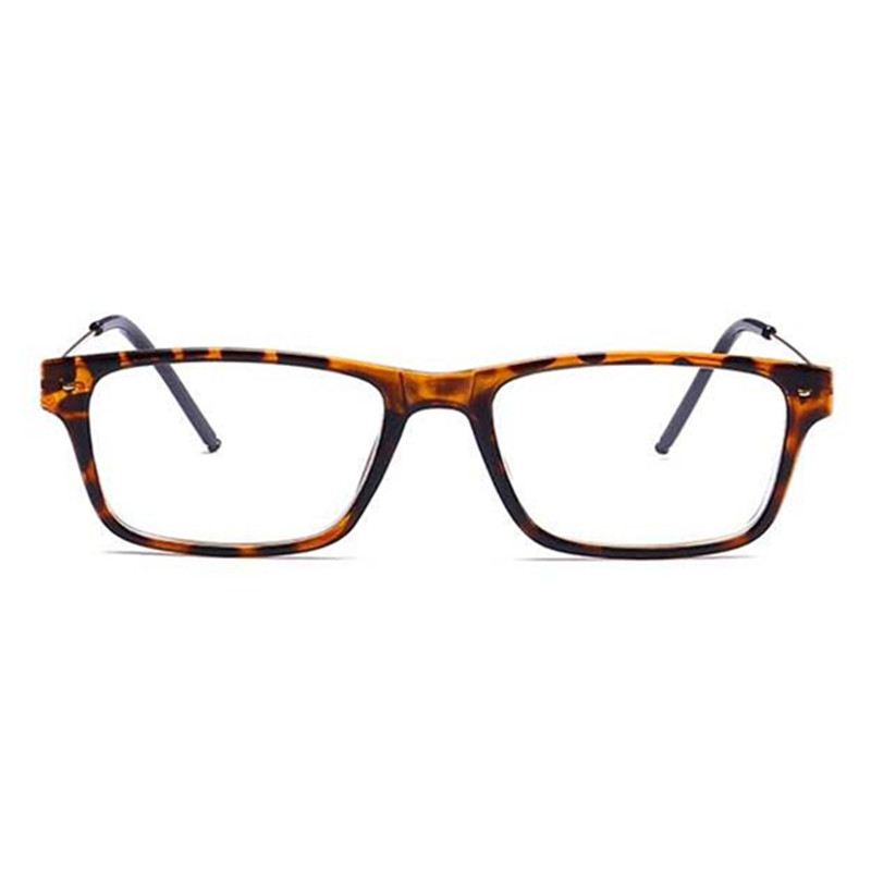Finished Myopia Glasses Men Square Steel Wire Frame Legs Clear Lens ...