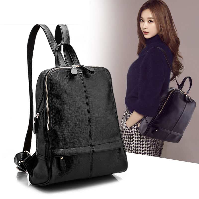 New 2017 PU Leather Women Backpack Woman Korean Style Ladies Strap Laptop Bag Leisure travel backpack 2017 new korean man pu leather backpack male new style junior middle school students leisure travel backpack fashion bag