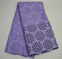 Diamonds Laser Cut Lace Fabric 2017 Latest Laser Cut Beaded Lace Fabric Hot Selling lilac African Lace Fabric For Party SAE0091