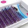 Pro C Локон 0.15 мм Мода Фиолетовый Блеск Ресниц 10 Полосы 3d Индивидуальный Наращивание Ресниц Накладные Ресницы