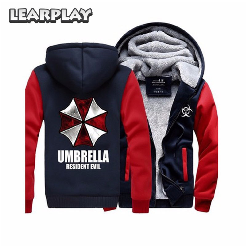 Resident Evil 6 Umbrella Hoodies&Sweatshirt 2018  Fleece Coat