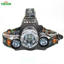 1T6+2R2 8000Lm 4-Modes CREE XML LED Headlight Headlamp Lamp Light Torch Camping Fishing Flashlight Hunting 7028