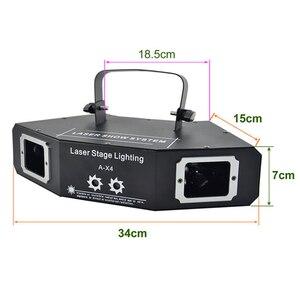 Image 2 - Disco Laserlicht Rgb Full Color Beam Light Dj Effect Projector Scanner Laser Podium Verlichting