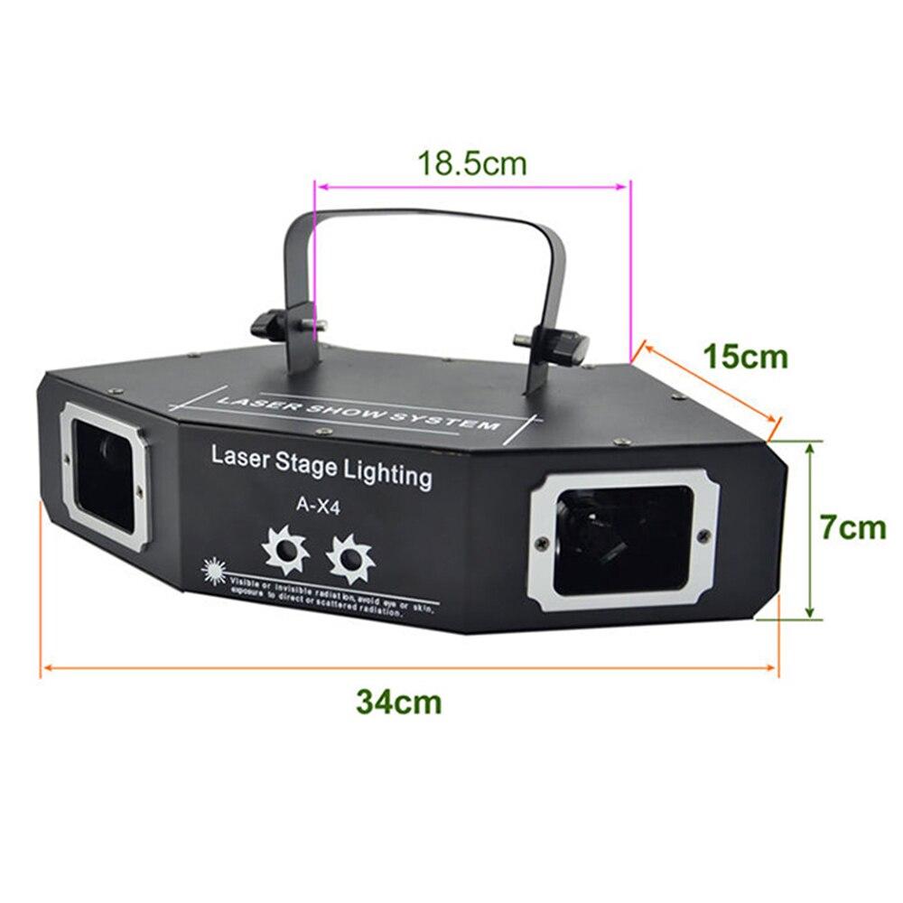 Image 2 - disco laser light RGB full color beam light dj effect projector scanner laser stage lighting-in Stage Lighting Effect from Lights & Lighting on