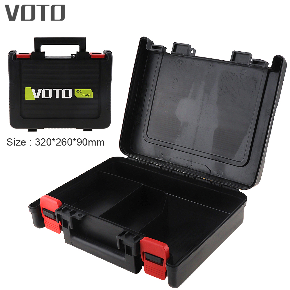 VOTO Power Tool Suitcase 12 / 16.8 / 21V Electric Drill Universal Tool Box with 320mm Length and 260mm Width for Lithium Drill voto power tool suitcase 12v electric drill dedicated load tool box with 265mm length and 235mm width for electric screwdriver